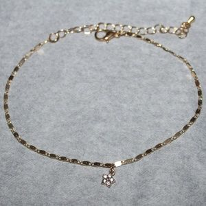 •~Simple Elegant Tiny Star Charm Anklet ~•